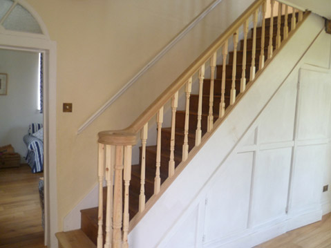 Stair railing and spindles